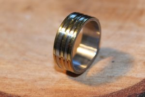 Mens Stainless Steel Ring Size 9.5