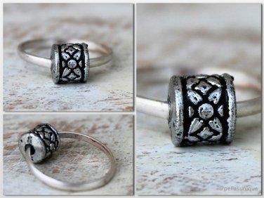 SilverRustic Boho Ring