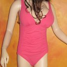 Victoria's Secret DKNY Pink Shirred Smocked Swimsuit 12  237923