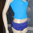 Victoria's Secret $80 Body by Victoria Teal & Purple Tankini XL 191520 239621