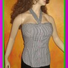 New Victoria's Secret Pinstripe Shirtstyle Halter Top 2  195539