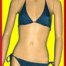 New Victoria's Secret Brass Trim Teal Bikini Small Top Medium Bottom197320