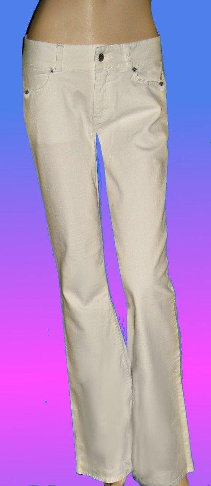 Victoria�s Secret $60 V Cut White Jeans 10 Petite  189423