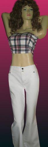 Victoria�s Secret $60 Ultra Sexy Hipster White Jeans 16 Inseam 30  199865