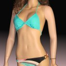 Victoria's Secret $87 Radio Fiji Low Rise Chain Bikini Large Bottom Medium Top  237977