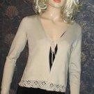 Saks Fifth Avenue Josephine Chaus Sand Beige Silk Cardigan Petite  623249
