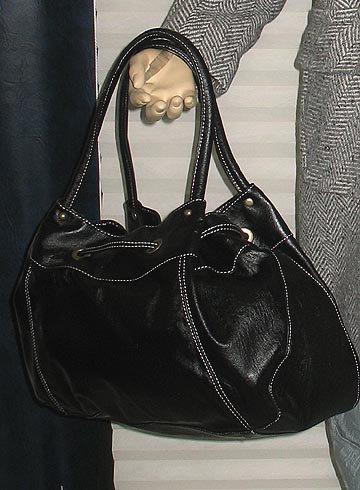 Victoria�s Secret Colin+Colette Black pull Thru Satchel Handbag Purse  223880