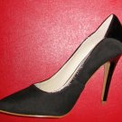 Victoria's Secret $88 Black Suede Leather Patent Stiletto Pump 6  270547