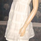 Victoria's Secret $108 White Crochet Cup Tiered Slip Dress 4 266543