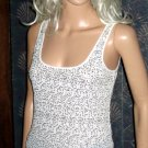 Victoria's Secret $60 Gold Sequin White Tank Top XS  270283
