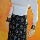 NWT Style & Co $78 Black & White Maxi Skirt 10 Petite  361548