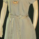 Victoria's Secret Brass Beaded Short Sleeve Caftan Dress Medium  239348