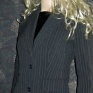 Victoria's Secret Navy Pinstripe Single Breasted Jacket Blazer 2  200401