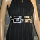 NWT Pacific Plex $139 Sexy Black Embellished Evening Cocktail Dress Small  jd1668