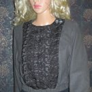 Victoria's Secret $228 Lace Bib Snap Front Wool Blend Blazer Jacket Size 2 243537