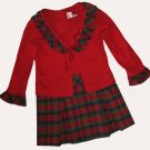 New Jenny & Me $49 Girls Christmas Red Dress 3 Toddler 310261