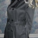 Victoria's Secret $158 Black Belted Trench Coat Medium  261304