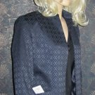 Jones NY Signature $150 Textured Navy Blue Blazer Jacket 8  349854