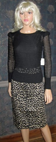 Victoria's Secret Cotton Blend Lightweight Long Sleeve Black Sweater Small 260680