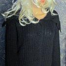 Victoria's Secret $70 Black Shabby Chic Bomber Cardigan Sweater XS  260836