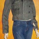Victoria's Secret Green Embellished Cotton Motorcycle Jacket Medium  263729