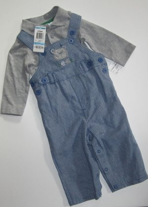 NWT First Impressions Baby Boys Long Sleeve Blue 2 piece Set 6-9 Months 74089