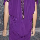 Victoria's Secret $110 Purple Sexy Beaded Cap Sleeve Cocktail Dress Small 263814