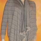 Victoria's Secret $88 Asymetric Beige Black Jacquard Cardigan Sweater Small  274981