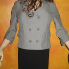 Victoria's Secret Fully Lined Double Breasted 3/4 Sleeve Grey Blazer 8 218914