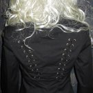 Victoria's Secret $128 Black Lace-Up Blazer Jacket 4 283088