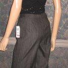 NWT Macy's Charter Club $90 Chalk Striped Charcoal Grey Pants 6P CC3045