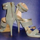 Victoria's Secret $108 Taupe Gold Anklestrap Strappy Dressy Sandal 10  280403