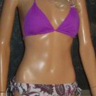 Victoria's Secret $50 Purple Paisley Padded Bikini Large Medium 248435 p