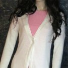 Victoria's Secret $70 White V-Neck Long Cardigan Sweater Medium  292480