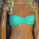 Victoria's Secret $59 Turquoise Bandeau Push-Up Bikini 32B Small 277658 xhil