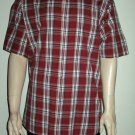 Arrow $50 Cotton Red Plaid Short Sleeve Dress Shirt XL 36543
