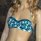 Victoria's Secret Sexy Push-up Bandeau Turquoise 36A XL Bikini  256626 xh
