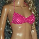 Victoria's Secret Pink Polka Dot and Black Print Padded Push-Up Bikini XS Small  219169