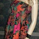 Victoria's Secret $78 Black Floral Smocked Dress Small 192051