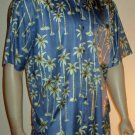 Jos.A.Bank  $110 Men's Silk Blue Print Hawaiian Shirt XL 50915