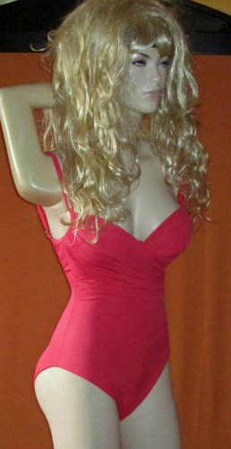 Victoria's Secret $178 Magicsuit Coral 1 Piece Firm Control Swimsuit 8  192746