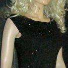 Ann Taylor $85 Black Beaded Sleeveless Silk Blend Top Sweater Small AT508