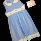 NWT Youngland $55 Girls Pale Blue & White Trim Dress 6  85697