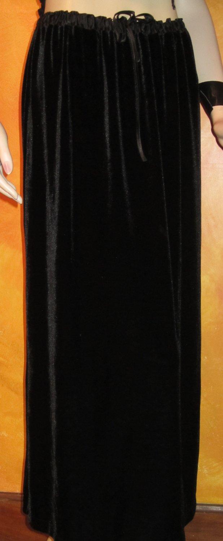 nwt Style & Co. Royal Gems $40 Black Velvet Velour Skirt Medium 87488