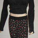 Victoria's Secret Black Floral Lounge Pajama Pant Small 288261