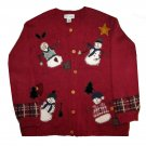 NWT Croft & Barrow Red Cardigan Ugly Christmas Sweater 1X 693701