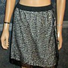 NWT Mossimo Black Sequins on Nude Dressy Skirt Large 296604
