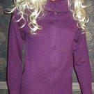Victoria's Secret $58 Long Zip Front Cotton Purple Cardigan Sweater Small 186564