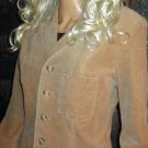 Victoria's Secret $128 Long Lined Corduroy Camel Beige Blazer Large  166689
