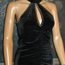 New Victoria's Secret Black Velvet Sleeveless Club Evening Cocktail Dress Small 190911
